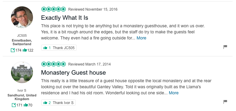 Trip Advisor Reviews Thegchen Phodrang Guest House